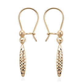 High Finish Textured Drop Earring in 9K Gold