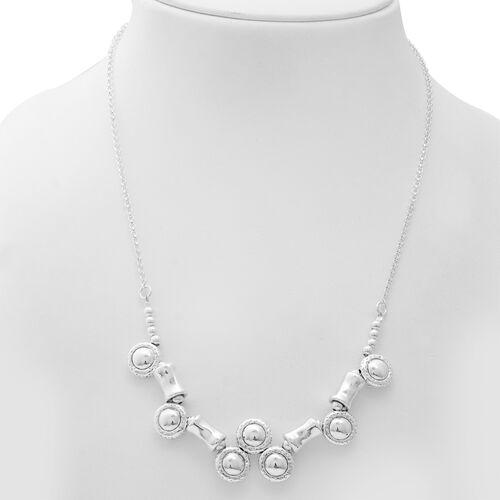 Designer Inspired- Sterling Silver Necklace (Size 20), Silver wt 18.41 Gms