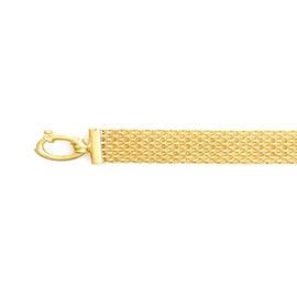 9K Yellow Gold Bismark Bracelet (Size 7.5 with 1 inch Extender), Gold wt 11.84 Gms.