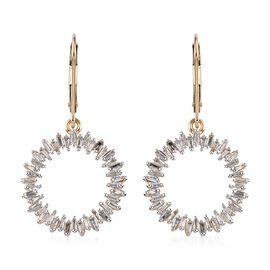 9K Yellow Gold SGL Certified Diamond (Bgt) (G-H/I3) Lever Back Earrings 1.00 Ct.