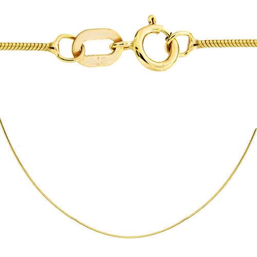 JCK Vegas Collection- 9K Yellow Gold Snake Chain (Size 22), Gold wt 2.20 Gms