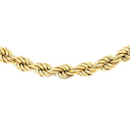 Hatton Garden Close Out 9K Yellow Gold Rope Necklace (Size 20),  Gold wt. 9.23 Gms