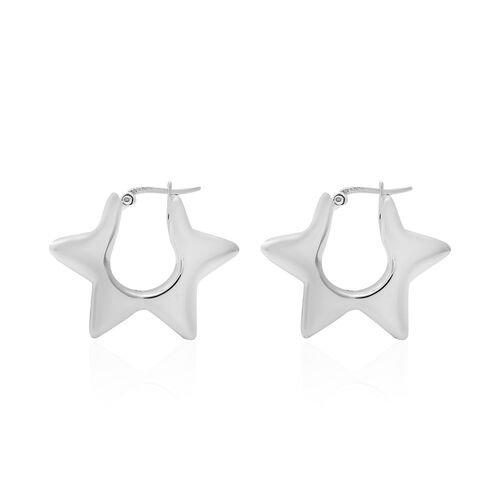 Sterling Silver Star Earrings (with Clasp), Sliver Wt. 7.40 Gms