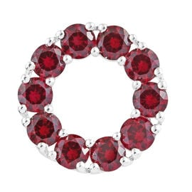 Lab Grown Ruby (Rnd) Circle of Life Pendant in Sterling Silver 4.750 Ct.