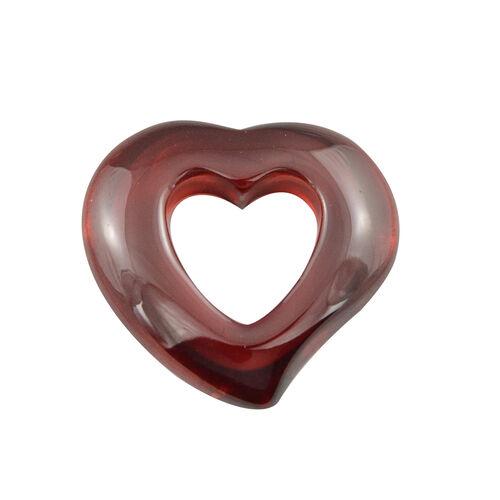 Designer Inspired- Cubic Zirconia Heart Pendant - Red