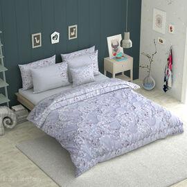 6 Piece Set - Floral Pattern Comforter, Fitted Sheet, 2 Pillow Case & 2 Envelope Pillow Case (Size D