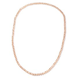 Simulated Champagne Colour Sapphire Roundel Beaded Necklace 20 Inch