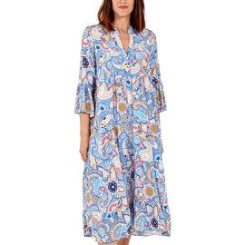 Nova of London - Viscose Paisley Print Midi Dress (Size 8-20) - Blue