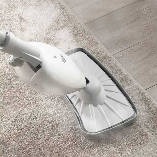 Close Out Deal- Light n Easy Optimus OP800 Electric Steam Mop With Carpet Glider & 2 Washable Microfibre Pads 1300W - White (Size 125x26cm)