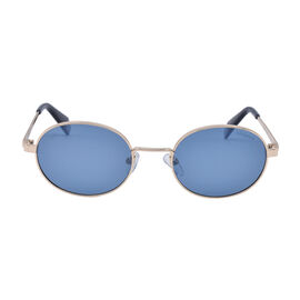Polaroid Oval Sunglasses with Blue Lenses