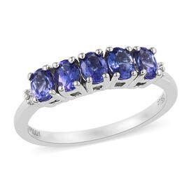 RHAPSODY 950 Platinum AAAA Tanzanite (Ovl), Diamond (VS / E-F) Ring 0.90 Ct.