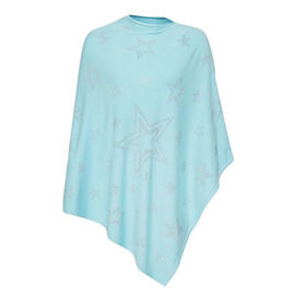 Kris Ana Paisley Star Scattered Mint Poncho One Size (8-18)