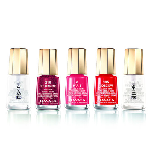 Red Set: Super Base, Moscow (185), Red Diamond (210), Paris (003) & Minute Quick-Finish