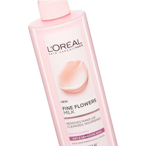 LOreal Paris Fine Flowers Cleansing Milk Dry Skin 400ml