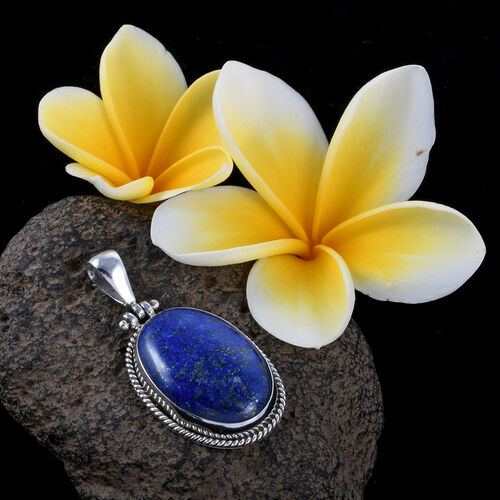 Royal Bali Collection Lapis Lazuli (Ovl) Pendant in Sterling Silver 52.450 Ct.