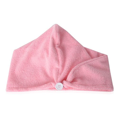 Pink and White Bath Set  including Shower Cap, Rose Hair Wrap, Bath Pillow and Eye Mask