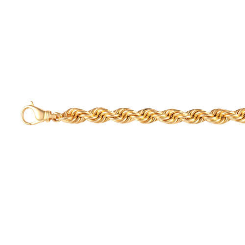 One Time Deal Italian Made 9K Yellow Gold Rope Necklace (Size 22) with Lobster Clasp, Gold wt. 37.57