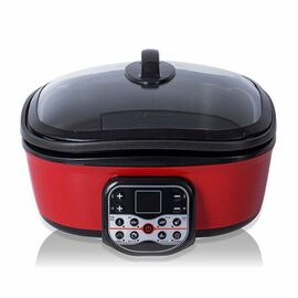 8 in 1 Multi-Function Electric Cooker with Free Accessories - Red