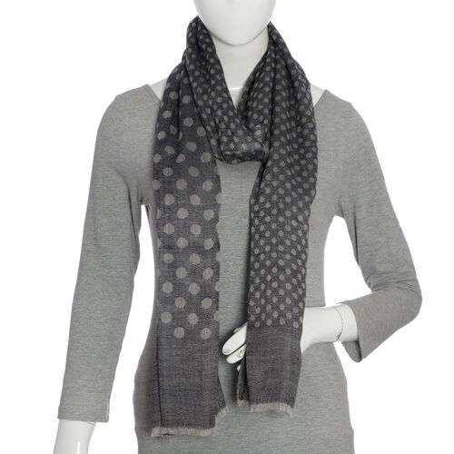 100% Cashmere Wool Grey Colour Ultra Soft Scarf (Size 200X70 Cm)