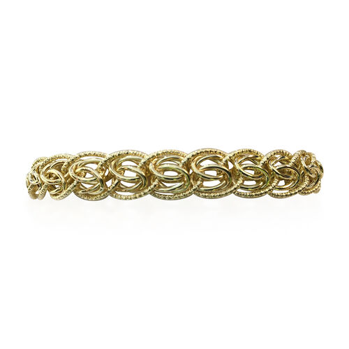 Byzantine Chain Bracelet with Lobster Clasp in 9K Gold 7.5 with 1 inch Extender