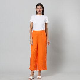 100% Viscose Palazzo - Orange