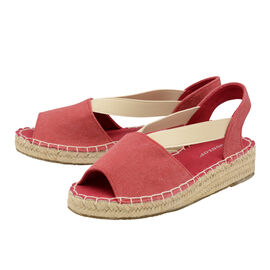 Dunlop Minna Espadrille Sandals in Red Colour