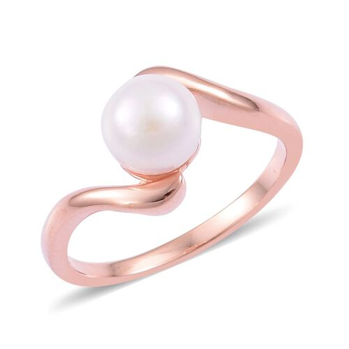 Japanese Akoya Pearl Ring in Sterling Silver