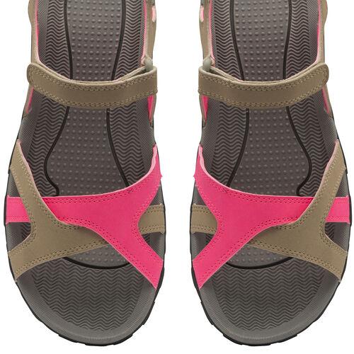 Gola Cedar Walking Sandal (Size 4) - Taupe/Hot Pink