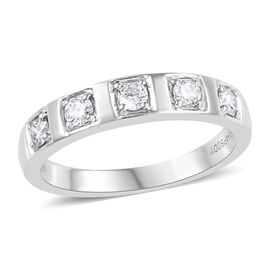 RHAPSODY 950 Platinum IGI CERTIFIED Diamond (Rnd) (VS / E-F) Band Ring 0.330 Ct, Platinum wt 5.91 Gm