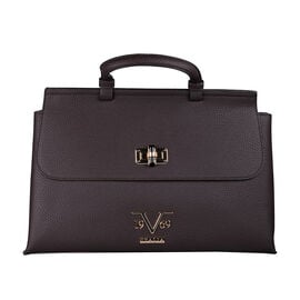 19V69 ITALIA by Alessandro Versace Litchi Pattern Tote Bag with Detachable Shoulder Strap (Size 40x1