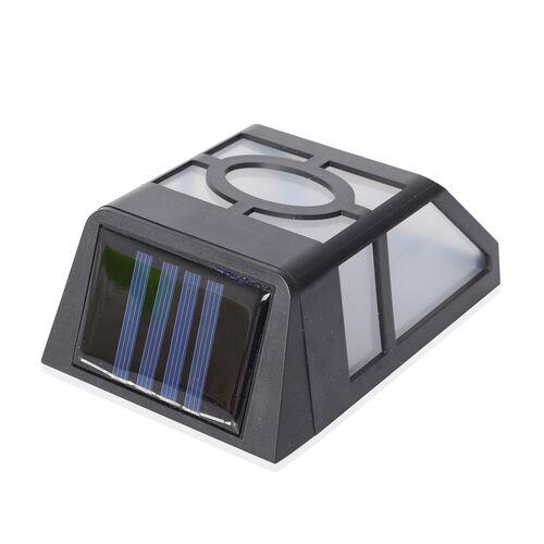 Set of 2 - Home Decor  Solar Flame Fence LED Lights - Black