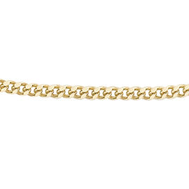 9K Yellow Gold Diamond Cut Curb Chain (Size 16)
