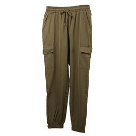 Nova of London Cargo Cuffed Jogger with Side Pockets in Khaki (Size L)