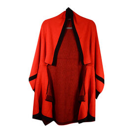 Kris Ana Coloured Border Cardigan One Size - Red/Black