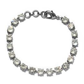 Super Find- Simulated Diamond Line Bracelet (Size 7.5) in Platinum Tone
