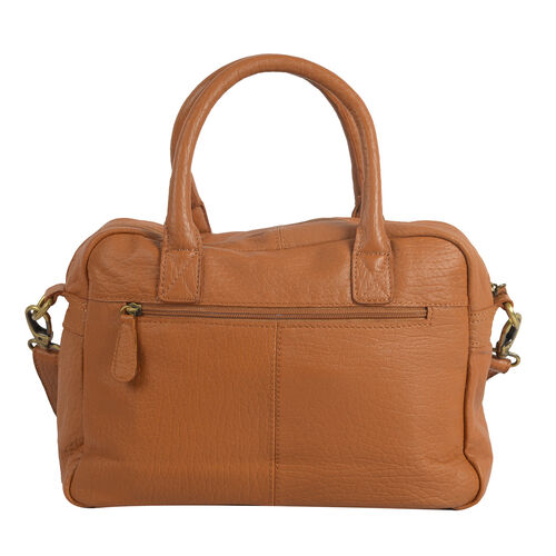 100% Super Soft New Zealand Genuine Leather Multi Compartment Satchel Shoulder bag with Detachable and Adjustable Strap  (31X23X11.5cm)