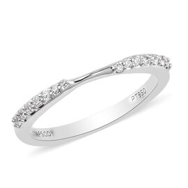 RHAPSODY 950 Platinum IGI Certified (VS/E-F) Diamond Band Ring 0.14 Ct.