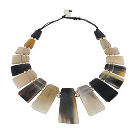 100% Genuine Buffalo Horn Necklace 18 Inch