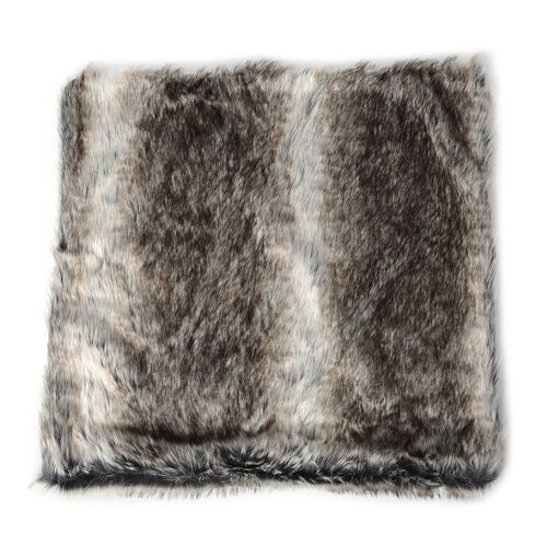 Set of 2 - Faux Fur with Reverse Mink Cushion Covers (Size 45x45 Cm)