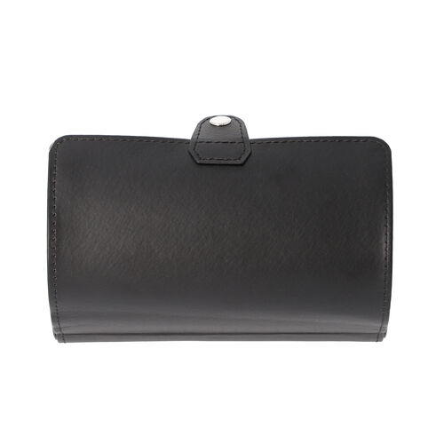 Unique Roll Style Watch and Jewellery Storage Box (Size 9x19.5cm) - Black