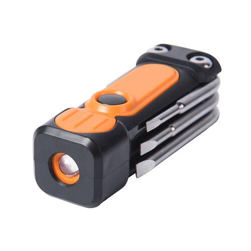 2 Piece Set - LED Light and 7-in-1 Multi Tool - Orange
