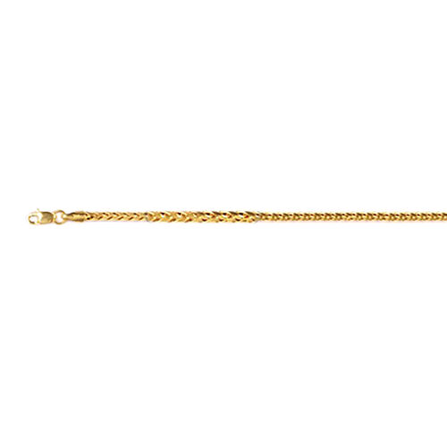 One Time Deal-22K Yellow Gold Spiga Necklace (Size 22), Gold wt. 9.50 Gms