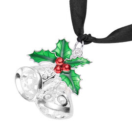 RACHEL GALLEY - Jingle Bells Enamelled Charm in Silver Tone