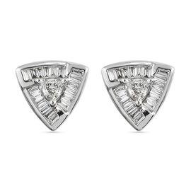 RHAPSODY 950 Platinum IGI Certified  Diamond (VS/E-F)  Solitaire Stud Screw Back Earrings 0.50 Ct.