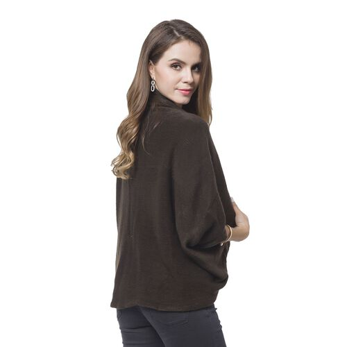 Designer Inspired-Chocolate Colour Cardigan (Size 105X35 Cm)
