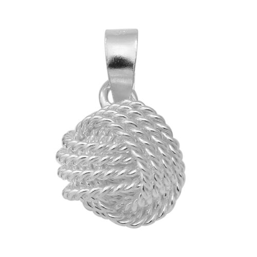 Rhodium Overlay Sterling Silver Knot Pendant