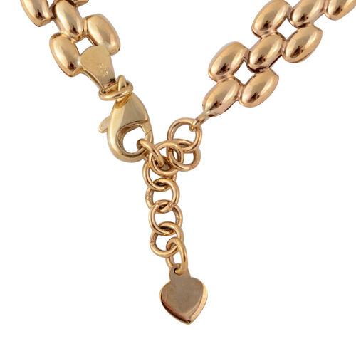 JCK Vegas Designer Inspired - 9K Y Gold Panther Link Bracelet (Size 7.5 with 1 Inch Extender), Gold wt 4.26 Grms