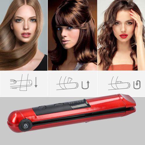 Mini Cordless Straightener - Red