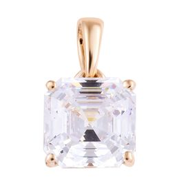 DOD-J Francis - 9K Yellow Gold (Asscher Cut 8x8 mm) Pendant Made with SWAROVSKI ZIRCONIA