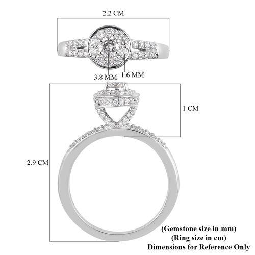 RHAPSODY 950 Platinum IGI Certified Diamond (VS/E-F) Ring 0.75 Ct, Platinum wt. 6.63 Gms